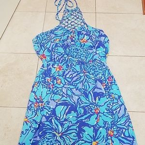 Sample! Lilly Pulitzer Maxi Mai Tai Halter Dress